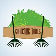 Gardening design. tool concept. natural  icon, editable vector - stock illustration