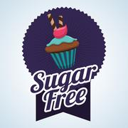 Sugar free design. candy concept. sweet icon, editable vector Stock Illustration
