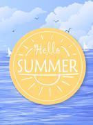 Summer holiday  illustration Stock Illustration