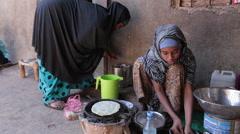 Making Breakfast in Somalia Stock Footage