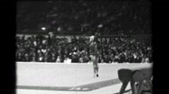 1966: Jindra Košťálová Czechoslovakia floor exercise 16th Artistic Gymnastics Stock Footage