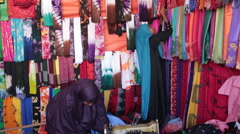 Dress Shop in Somalia Stock Footage