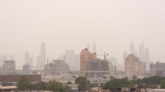 Skyline of Dubai on a cloudy day Stock Footage