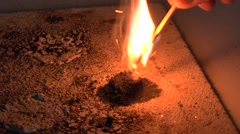 A demonstration of gunpowder in a London, UK high school. - stock footage