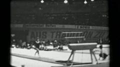 1966: Marianna Némethová-Krajčírová Soviet Union women's vault 16th Artistic - stock footage