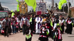 PERU: Traditional procession in Andes in Peru (South America) - stock footage