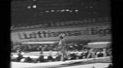 1966: Larisa Latynina Soviet Union women's vault 16th Artistic Gymnastics World Stock Footage