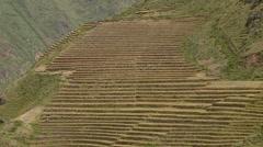 PERU: Inca terraces near Cusco - stock footage