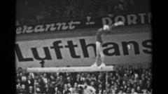 1966: Jána Kubičková-Posnerová Czechoslovakia women's balance beam 16th Artistic - stock footage
