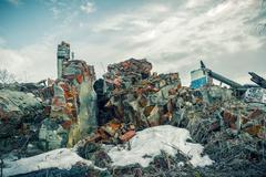Apocalyptic landscape Stock Photos