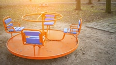 The Childrens carousel Stock Footage