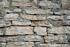 the texture of masonry rubble closeup - stock photo