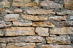 the texture of masonry rubble closeup - stock photo