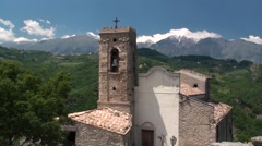 Roccascalegna medieval castle Stock Footage