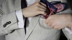 Folding A Handkerchief Stock Footage