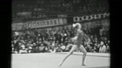 1966: Natalia Kuchinskaya Soviet Union women's floor exercise 16th Artistic - stock footage