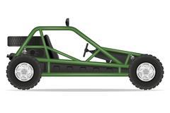 atv car buggy off roads illustration - stock illustration