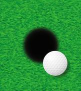 golf ball illustration - stock illustration