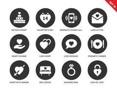 Love icons on white background Stock Illustration