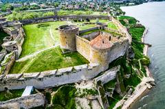 Beautiful view on Akkerman fortress in Belgorod-Dniester, Ukraine Stock Photos