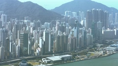 Hong Kong's Cityscape from atop Sky 100 Observation Deck Stock Footage