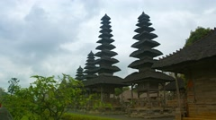 Fascinating Architecture of Taman Ayun Royal Temple in Bali, Indonesia Stock Footage