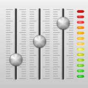 Mixing console Stock Illustration