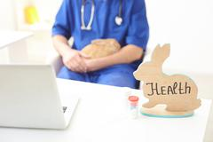 This medication will help to cure the pet - stock photo