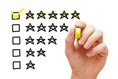 Five Star Rating Concept - stock photo