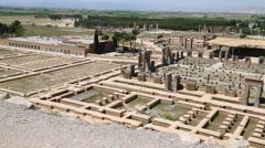 In iran persepolis the old ruins Stock Footage