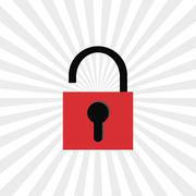 Security icon design - stock illustration