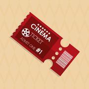 Ticket icon design - stock illustration
