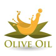 Olive OiL design. Orgnic concept. white background , editable vector - stock illustration