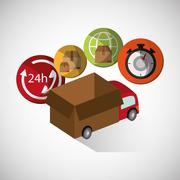 Graphic design of delivery , editable vecctor - stock illustration