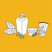 Graphic design of spa center, editable vecctor - stock illustration
