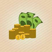 Profit graphic design - stock illustration