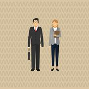 businesspeople graphic design - stock illustration