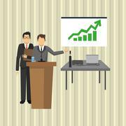 businesspeople graphic design - stock illustration