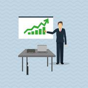 Businesspeople graphic design Stock Illustration