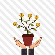 Profit graphic design , editable vector - stock illustration