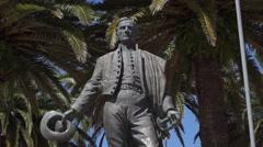 Punta Del Este, General Artigas statue, Uruguay, tilt up Stock Footage