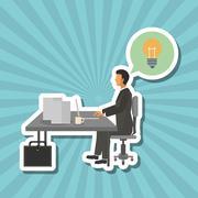 Businesspeople graphic design , editable vector Stock Illustration