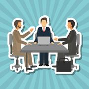 Businesspeople graphic design , editable vector Stock Illustration