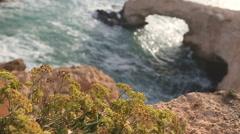A view of a sea shore in Kavo Greko nenar Aiya Napa, Cyprus Stock Footage