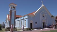 Punta Del Este, The Church of Candelaria, Uruguay Stock Footage