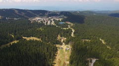 Aerial view, Flying over Kopaonik, Mountain range in Serbia Stock Footage