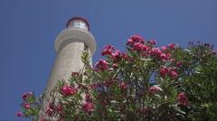 Punta Del Este, the lighthouse or El Faro, Uruguay Stock Footage