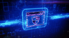 Software firewall icon animation - stock footage