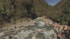 River Rapids Aerial - stock footage