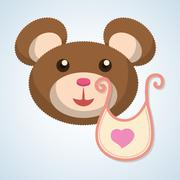 Baby shower design. invitation design.  isolated illustration - stock illustration